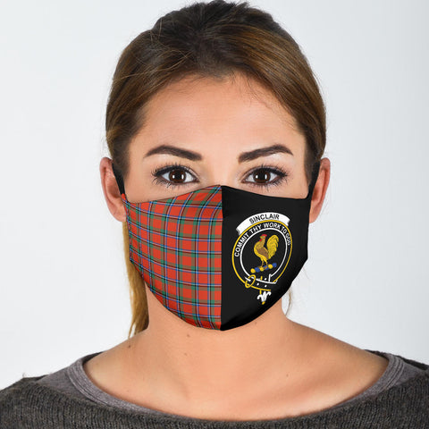 Sinclair Ancient  Tartan Mouth Mask The Half