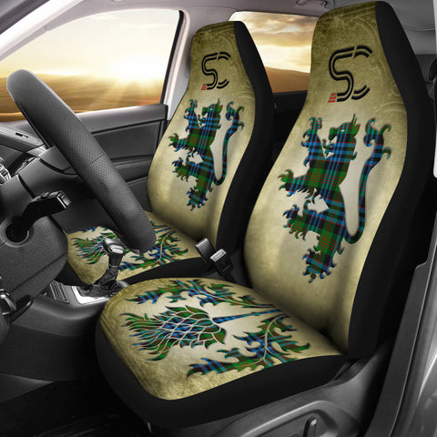 Newlands of Lauriston Tartan Car Seat Cover Lion and Thistle Special Style