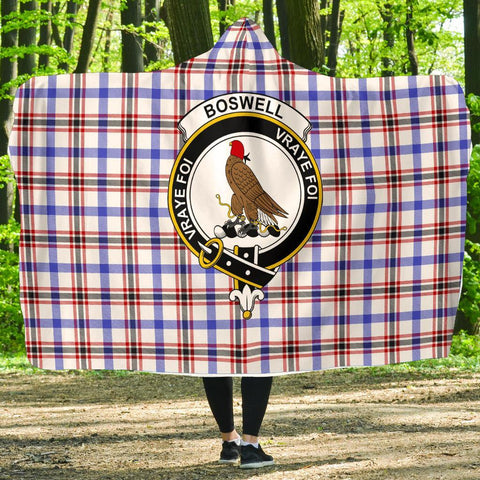 Image of Boswell Clans Tartan Hooded Blanket