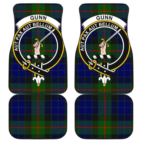 Image of Gunn Modern Tartan Clan Badge Car Floor Mat 4 Pieces| Exclusive Over 300 Clans| scottishclans.co