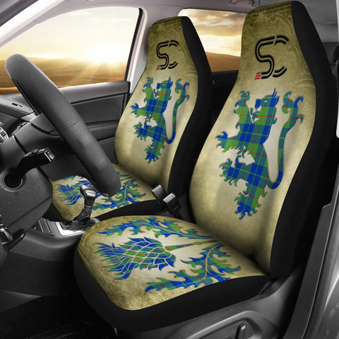 Barclay Hunting Ancient Tartan Car Seat Cover Lion and Thistle Special Style