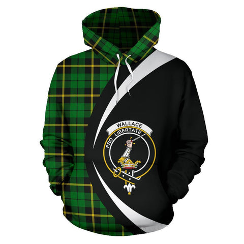 Image of Wallace Hunting - Green Tartan Circle Hoodie