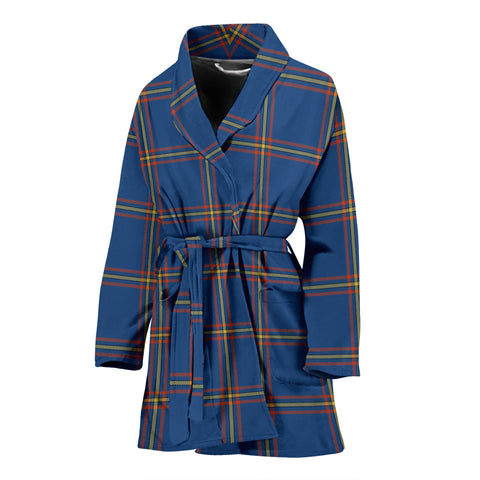 MacLaine of Loch Buie Hunting Ancient Tartan Womens Bathrobe