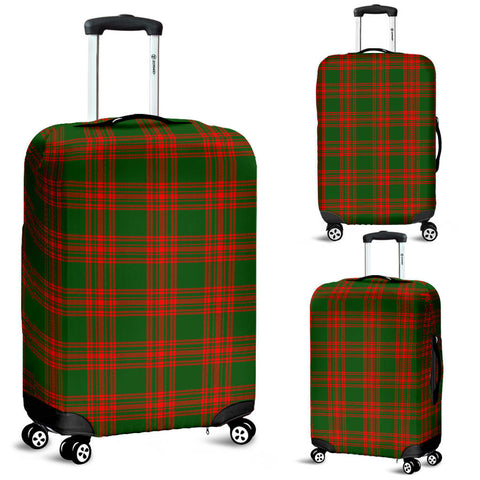 Menzies Green Modern Tartan Luggage Cover | Scottish Clans