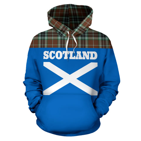 Tartan All Over Hoodie - Lion Thomson Hunting Modern - BN