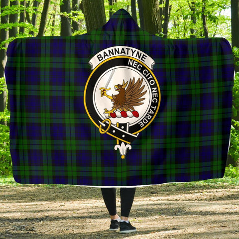 Image of Bannatyne Clans Tartan Hooded Blanket