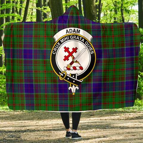 Adam Clans Tartan Hooded Blanket