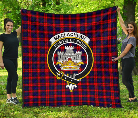 MacLachlan Modern Tartan Clan Badge Premium Quilt | Scottishclans.co