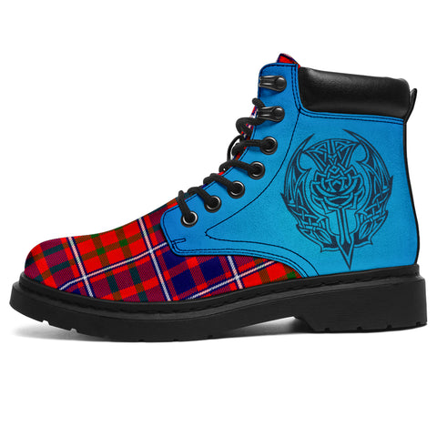 Cameron Of Lochiel Modern Tartan All-Season Boots - Celtic Thistle | scottishclans.co