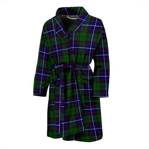Image of Russell Modern Tartan Mens Bathrobe