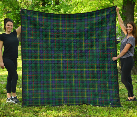 Image of Stewart Hunting Modern Tartan Premium Quilt | Scottishclans.co