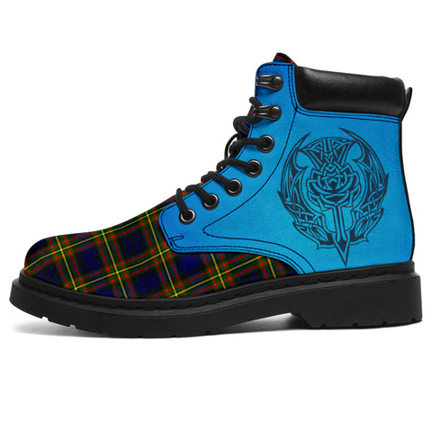 Image of Maclellan Modern Tartan All-Season Boots - Celtic Thistle | scottishclans.co