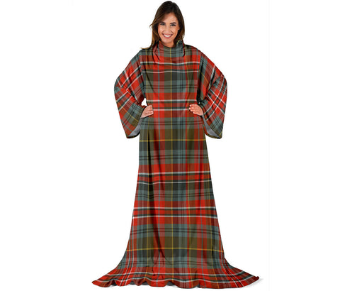 Image of MacPherson Weathered Tartan Clans Sleeve Blanket | scottishclans.co