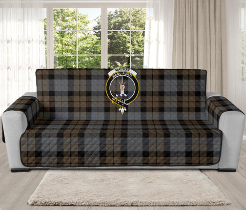 MacKay Weathered Tartan Clan Badge Oversized Sofa Protector