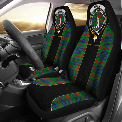 Image of Aiton Tartan Car Seat Cover Clan Badge - Special Version
