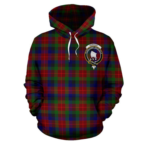 Image of Tennant Tartan Clan Badge Hoodie HJ4