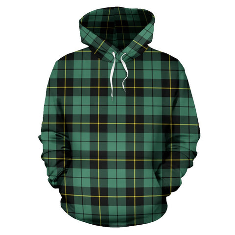 Wallace Hunting Ancient Tartan Hoodie, Scottish Wallace Hunting Ancient Plaid Pullover Hoodie