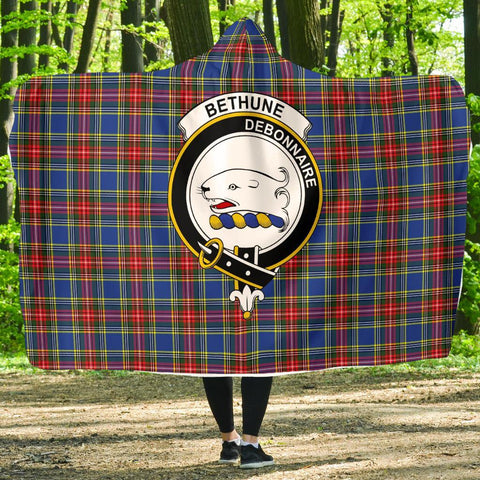 Image of Bethune Clans Tartan Hooded Blanket