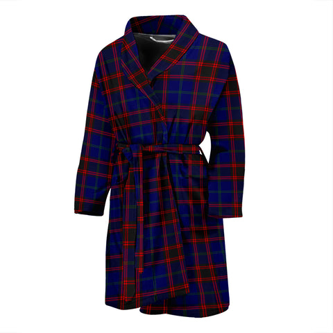 Home Modern Tartan Mens Bathrobe