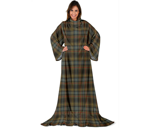 Stewart Hunting Weathered Tartan Clans Sleeve Blanket | scottishclans.co