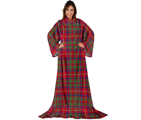 Image of Shaw Red Modern Tartan Clans Sleeve Blanket | scottishclans.co
