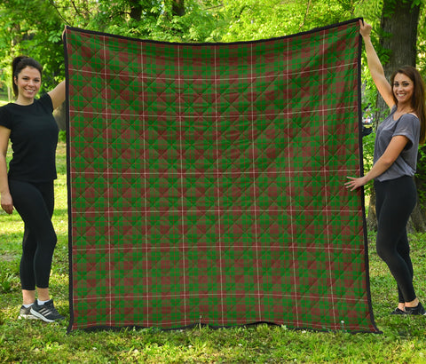 Image of MacKinnon Hunting Modern Tartan Premium Quilt | Scottishclans.co