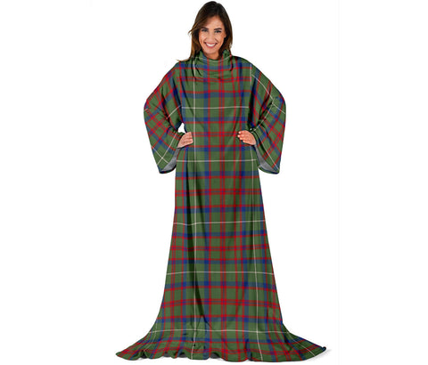 Shaw Green Modern Tartan Clans Sleeve Blanket | scottishclans.co