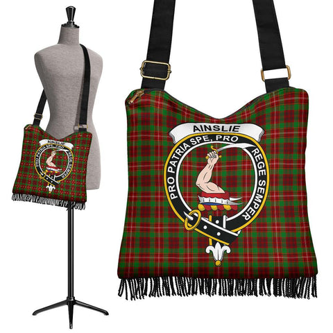 Ainslie Tartan Clan Badge Boho Handbag | scottishclans.co