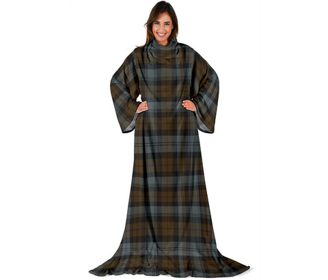 BlackWatch Weathered Tartan Clans Sleeve Blanket | scottishclans.co