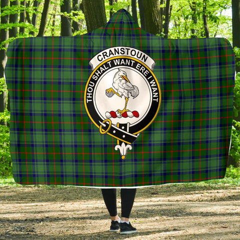 Image of Cranstoun Clans Tartan Hooded Blanket