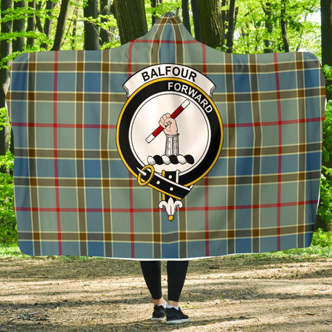 Image of Balfour Clans Tartan Hooded Blanket