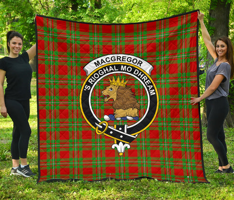 MacGregor Modern Tartan Clan Badge Premium Quilt | Scottishclans.co