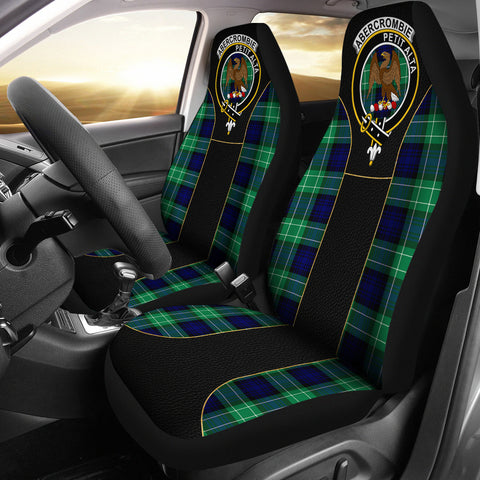 Abercrombie Tartan Car Seat Cover Clan Badge - Special Version