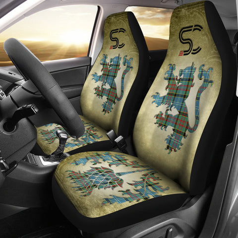 Paisley District Tartan Car Seat Cover Lion and Thistle Special Style
