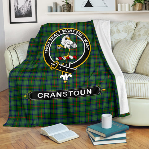 Cranstoun Crest Tartan Blanket | Tartan Home Decor | Scottish Clan