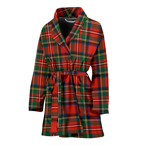 Stewart Royal Modern Tartan Womens Bathrobe