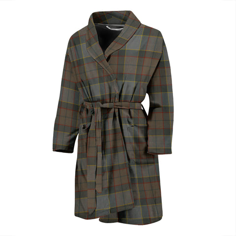 Outlander Fraser Tartan Mens Bathrobe