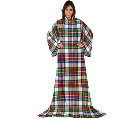 Stewart Dress Modern Tartan Clans Sleeve Blanket | scottishclans.co