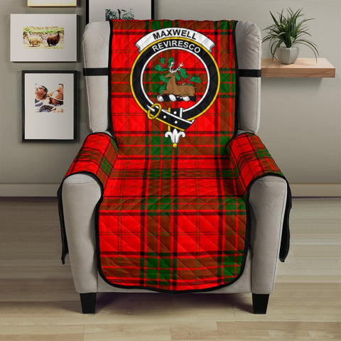 Image of Maxwell Modern Tartan Clan Badge Sofa Protector