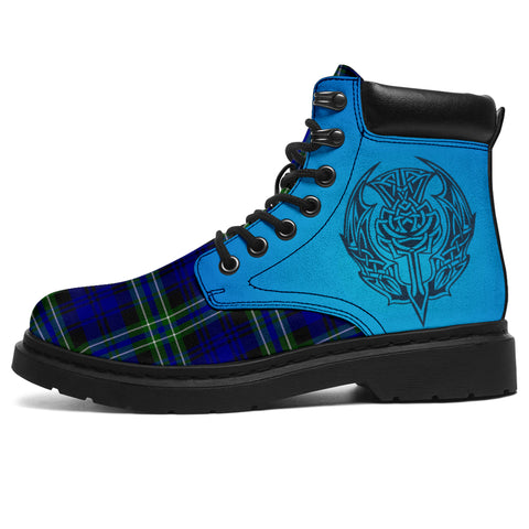 Arbuthnot Modern Tartan All-Season Boots - Celtic Thistle | scottishclans.co