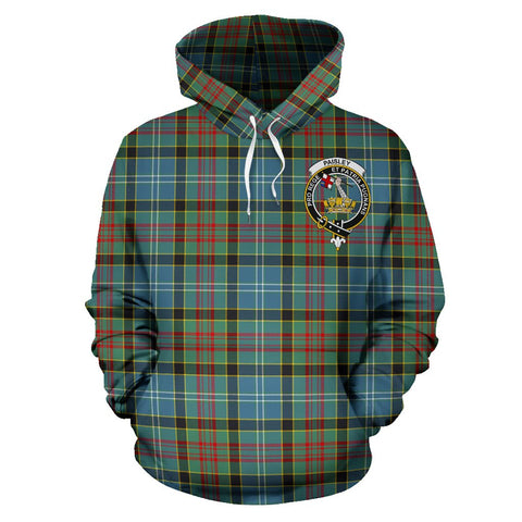 Image of Paisley District Tartan Clan Badge Hoodie HJ4