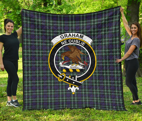 Graham of Montrose Modern Tartan Clan Badge Premium Quilt | Scottishclans.co
