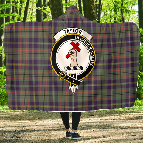 Image of Taylor Clans Tartan Hooded Blanket