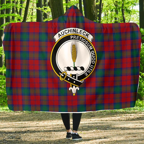 Auchinleck Clans Tartan Hooded Blanket