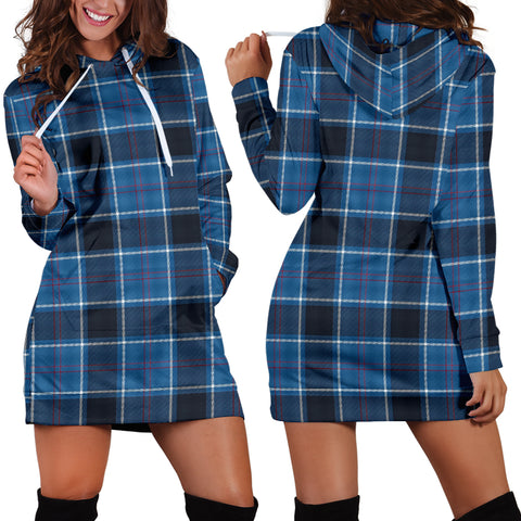 US Navy Tartan Hoodie Dress