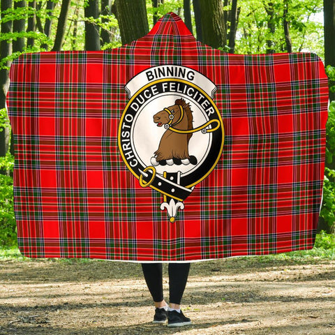 Binning (of Wallifoord) Clans Tartan Hooded Blanket