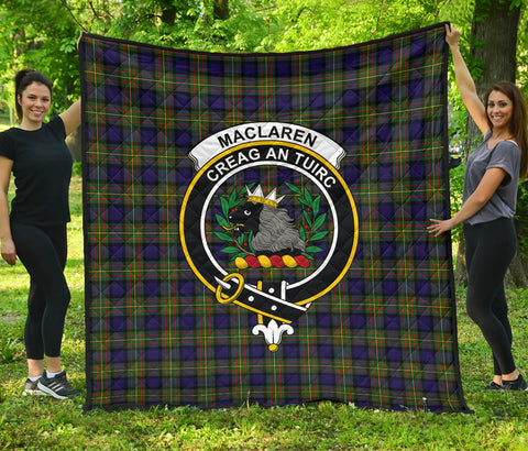 MacLaren Modern Tartan Clan Badge Premium Quilt | Scottishclans.co