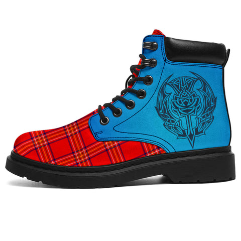 Burnett Modern Tartan All-Season Boots - Celtic Thistle | scottishclans.co
