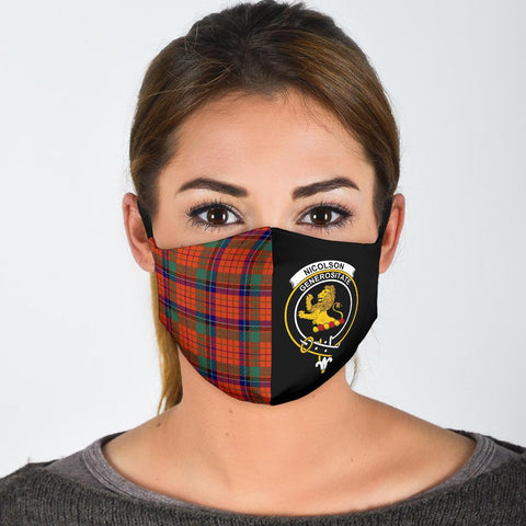 Image of Nicolson Ancient  Tartan Mouth Mask The Half