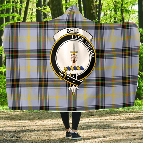 Image of Bell Clans Tartan Hooded Blanket